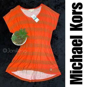 ✴️ MK Pinkish-Orange Top   MICHAEL KORS   Size L✴️